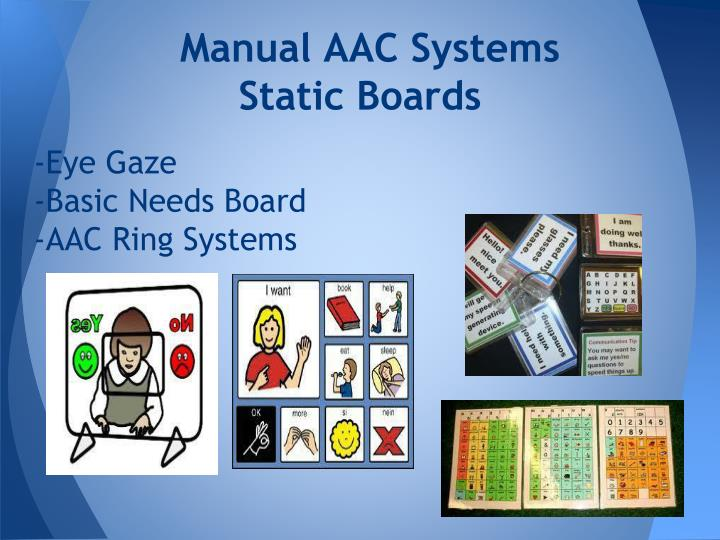 Manual AAC Systems