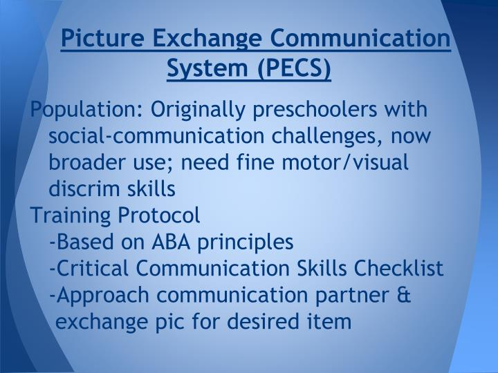 Picture Exchange Communication