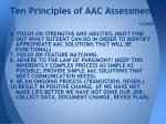 ten principles of aac assessment llloyd1