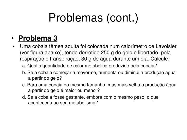Problemas (cont.)