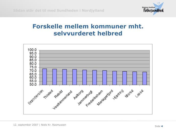 Forskelle mellem kommuner mht. selvvurderet helbred