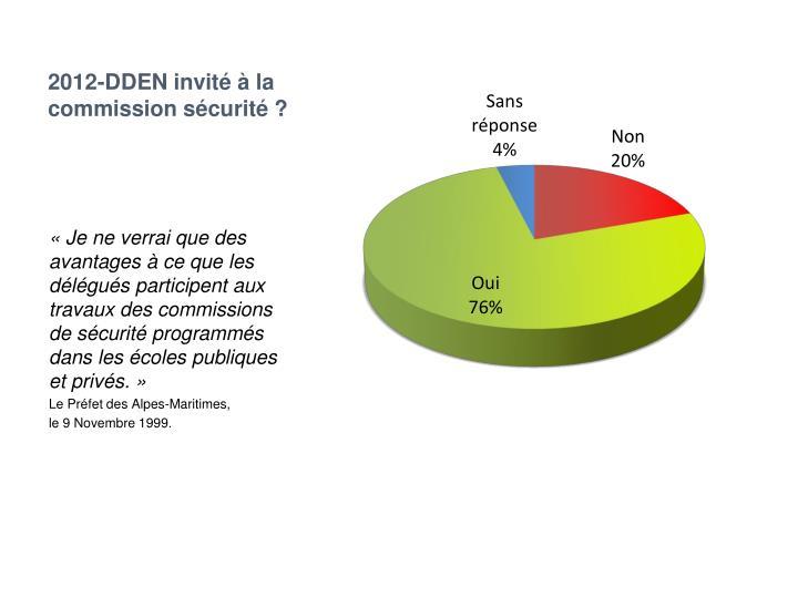 2012-DDEN invité à la commission sécurité ?