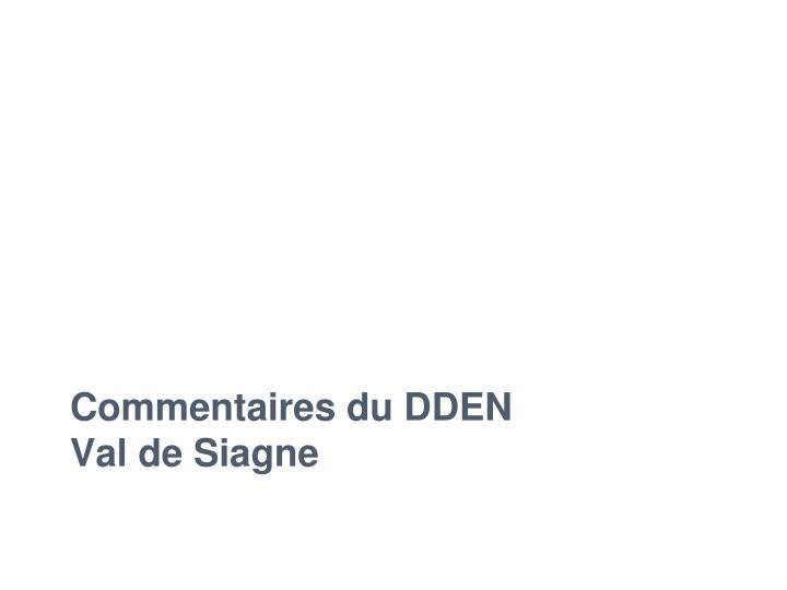 Commentaires du DDEN