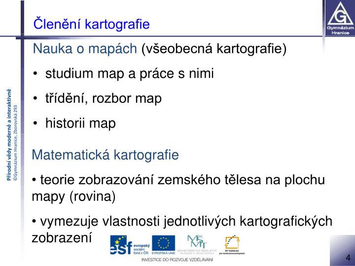 Členění kartografie