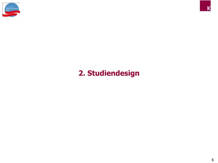 2. Studiendesign