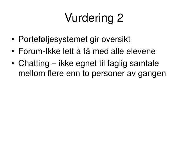 Vurdering 2