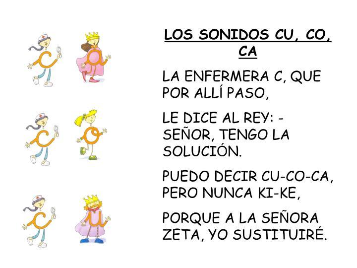 LOS SONIDOS CU, CO, CA