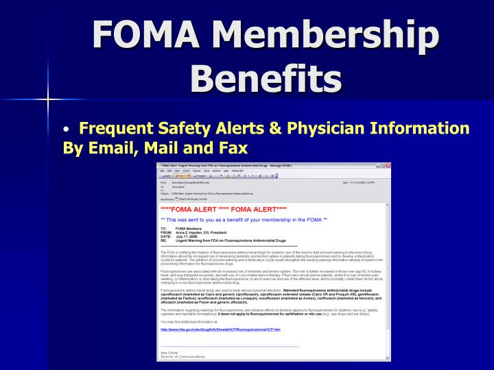 FOMA Membership