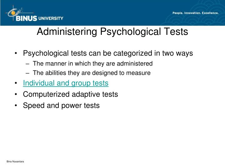 Administering Psychological Tests
