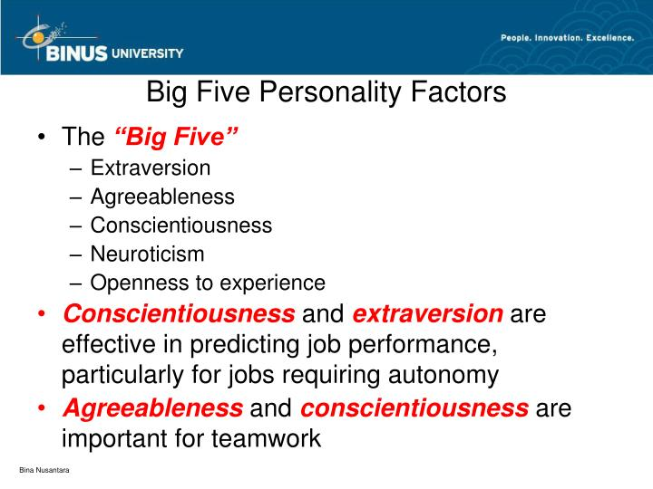 Big Five Personality Factors