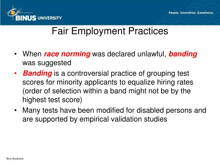 Fair Employment Practices