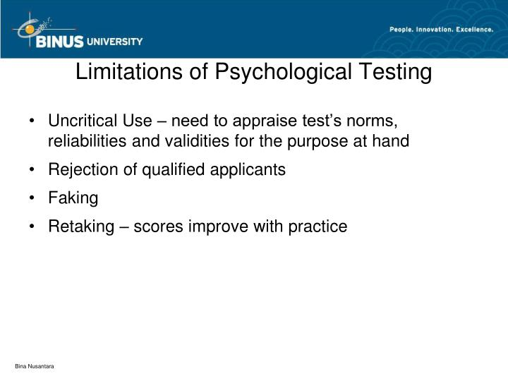Limitations of Psychological Testing