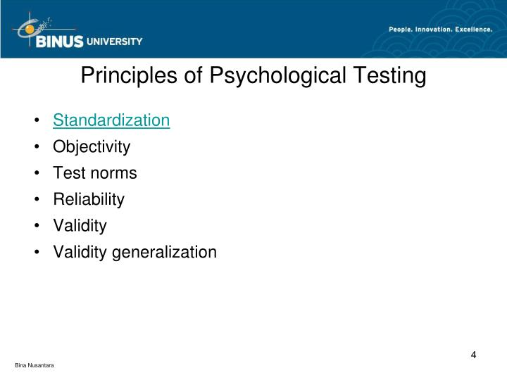 Principles of Psychological Testing