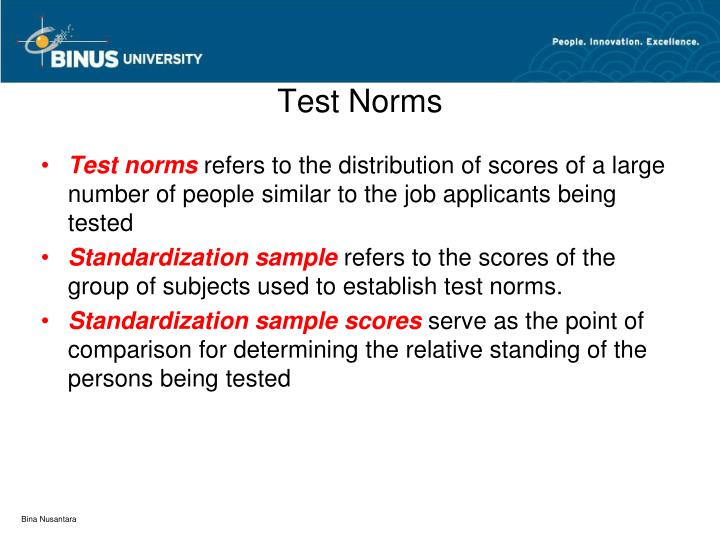 Test Norms