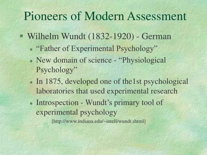 Pioneers of Modern Assessment