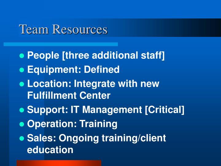 Team Resources