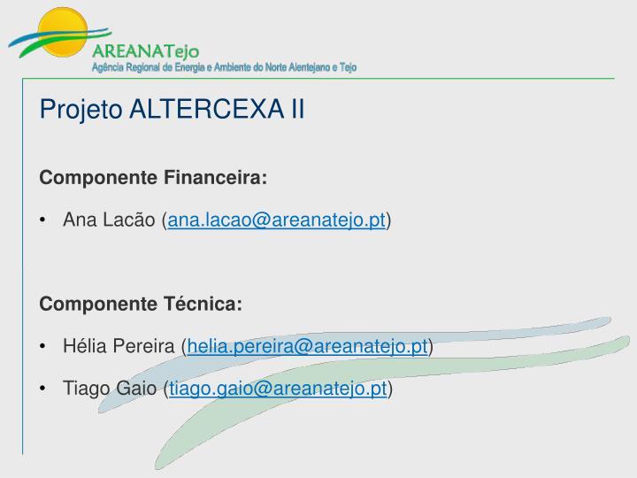 Projeto ALTERCEXA II