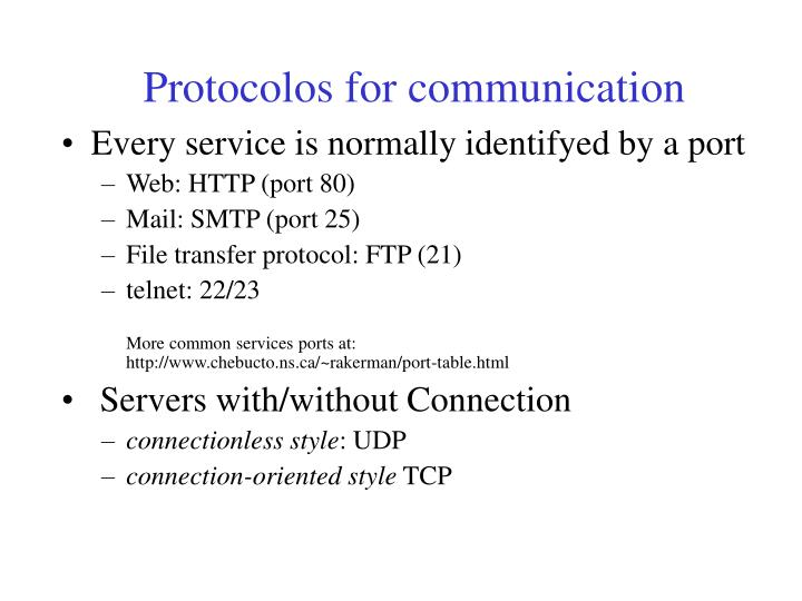 Protocolos for communication