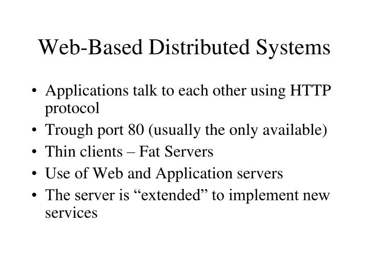 Web-Based Distributed Systems