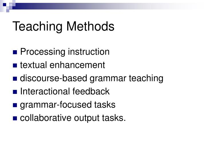 Collaborative Teaching Methodologies : Ppt how to teach grammar powerpoint presentation id