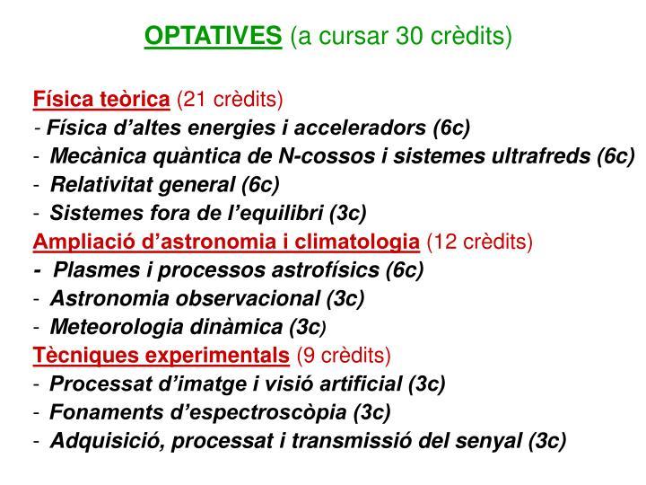 OPTATIVES