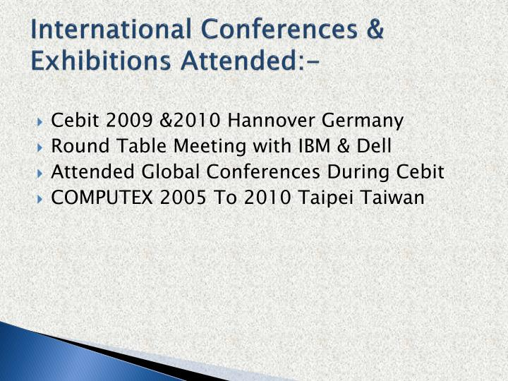 International Conferences &