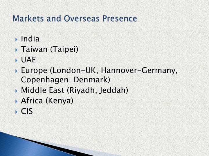 Markets and Overseas Presence