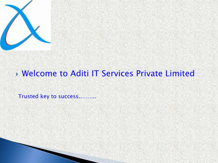 Welcome to Aditi IT Services Private Limited