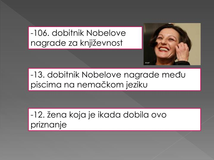 -106. dobitnik Nobelove nagrade za književnost