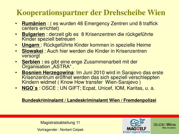Kooperationspartner der Drehscheibe Wien