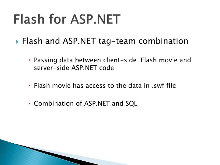Flash for ASP.NET
