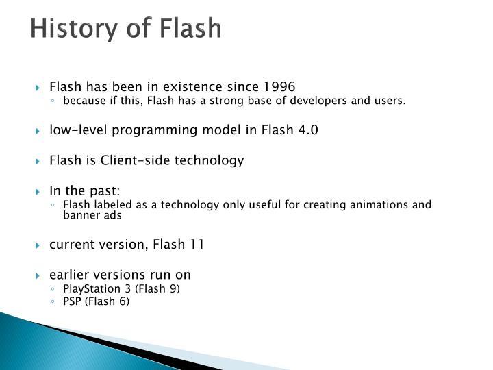 History of Flash