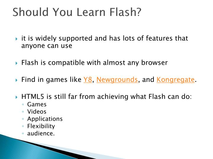 Should You Learn Flash