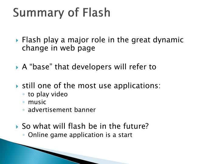Summary of Flash