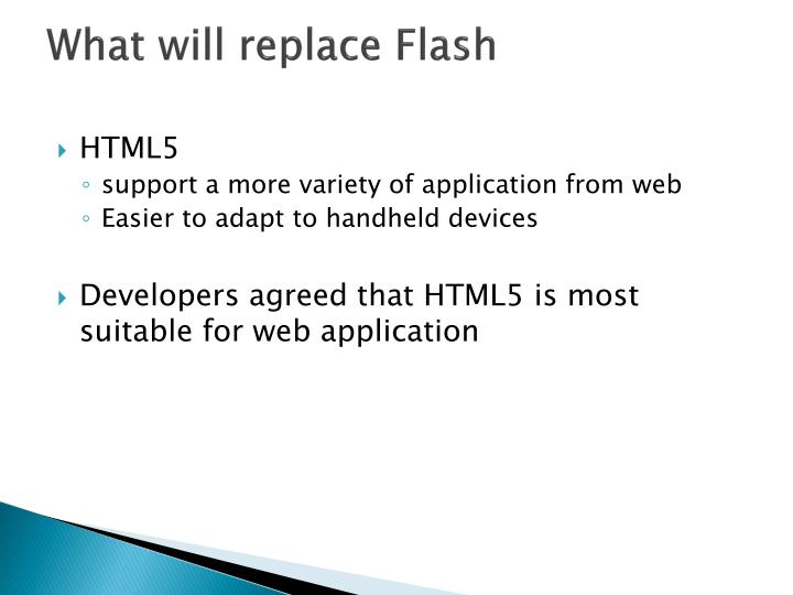 What will replace Flash