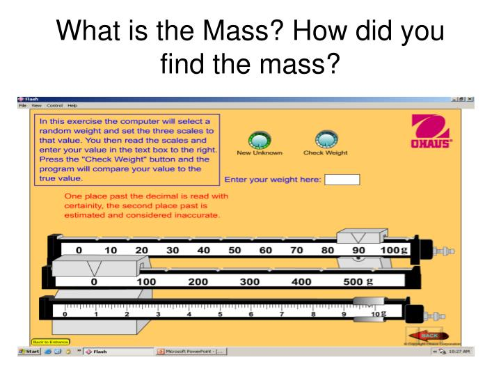 How do you find your mass