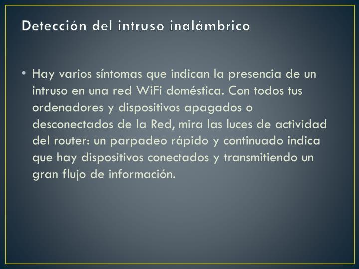 Detección del intruso inalámbrico