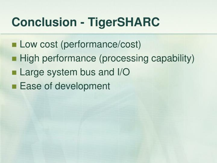 Conclusion - TigerSHARC