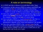 a note on terminology