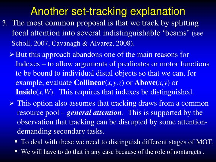 Another set-tracking explanation