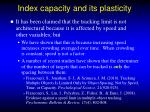 index capacity and its plasticity1