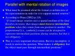 parallel with mental rotation of images