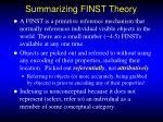 summarizing finst theory