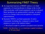 summarizing finst theory1
