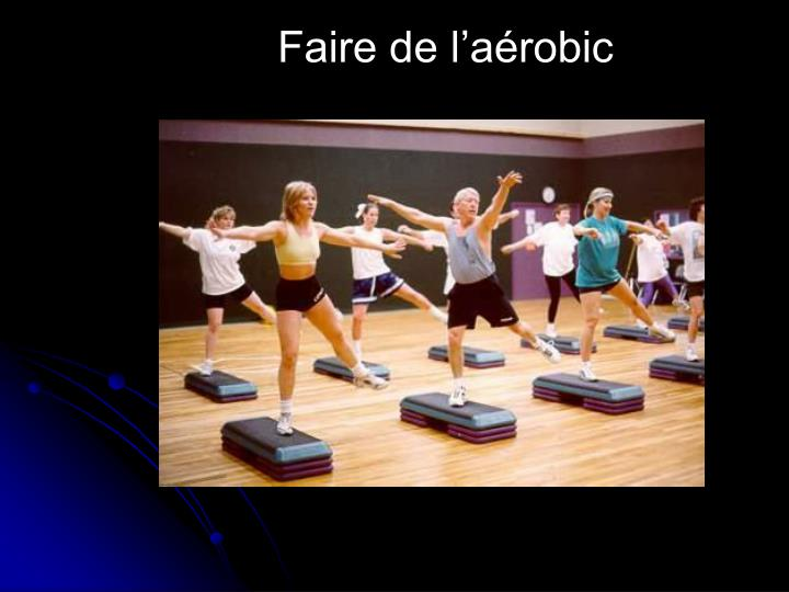 Faire de l'aérobic