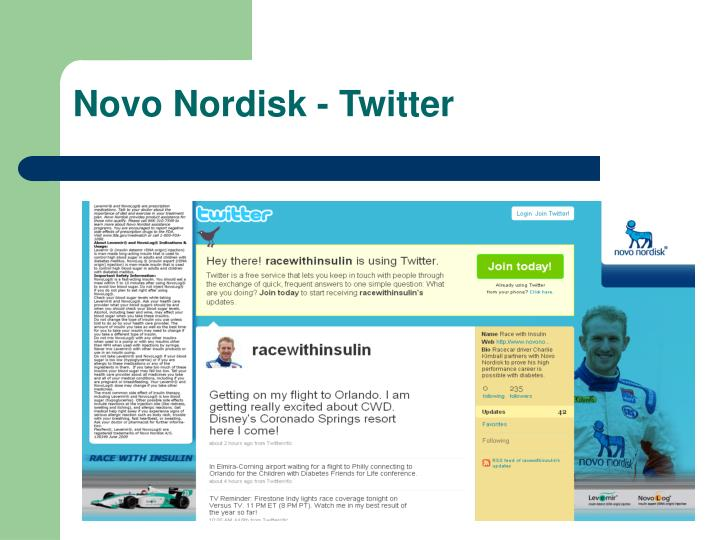 Novo Nordisk - Twitter