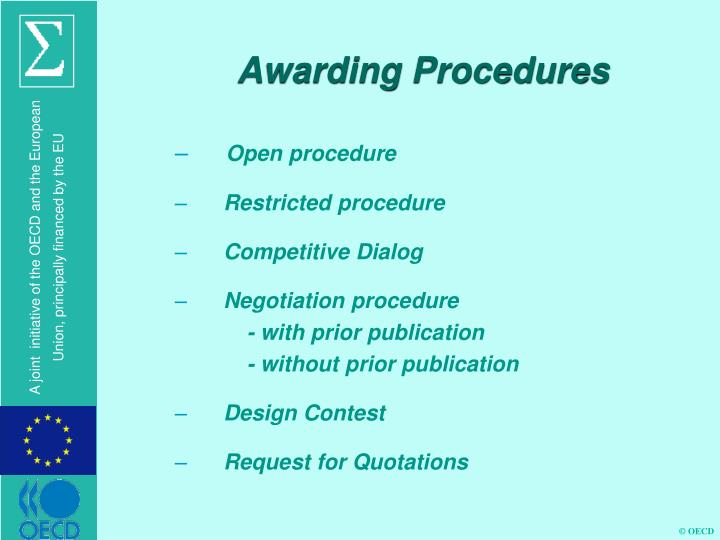 Awarding Procedures