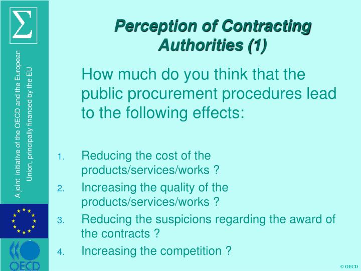 Perception of Contracting Authorities (1)