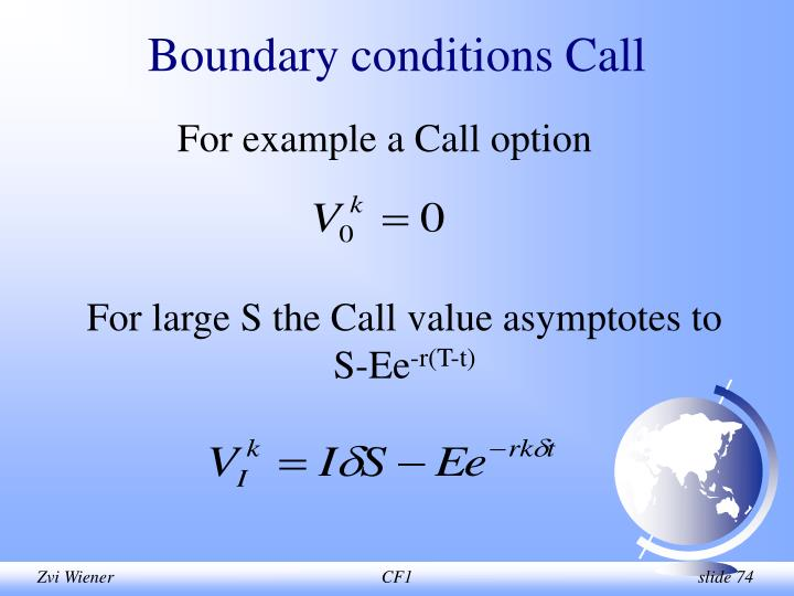 Boundary conditions Call