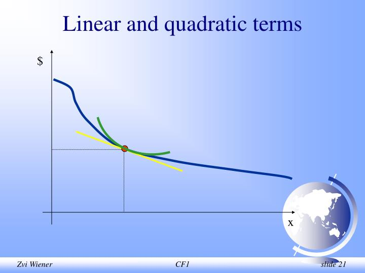 Linear and quadratic terms